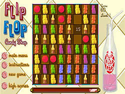 Spielen Sie das Gratis-Spiel  Flip Flop Candy Shop