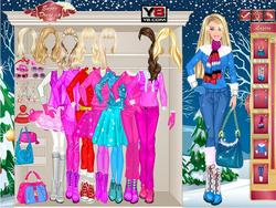 무료 게임 플레이 Barbie Winter