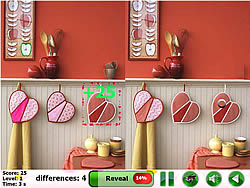 Love Heart 5 Differences game