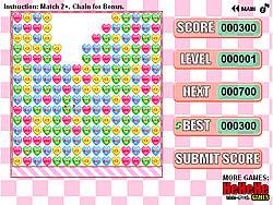 Valentine Hearts Remove game