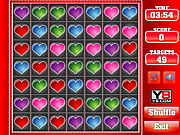 Valentine s hearts match 3