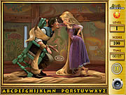 Play Tangled find the alphabets Game