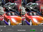 Play Racing car - five difference Game