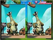 Play Ice age the meltdown spot the difference Game