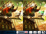 Play Pirate ship 5 differences Game