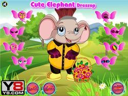 Cute Elephant Dressup game