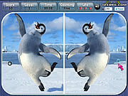 Jugar Happy feet spot the difference Juego