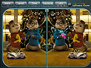 Play Alvin and the chipmunks spot the difference Game