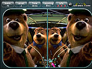 Play Yogi bear spot the difference Game