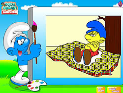 Color The Smurfs game