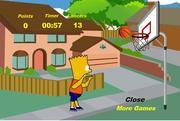 Chơi trò chơi miễn phí Bart Simpson Basketball Game