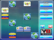 Play World flags memory 17 Game