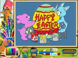 Easter Egg Online Coloring Page game