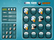 Play Mickey and donald - memory balls Game