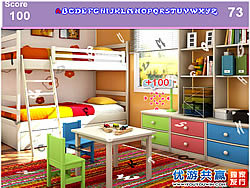 Kids Colorful Room Hidden Alphabets game
