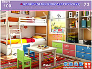 Play Kids colorful room hidden alphabets Game