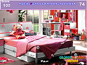Play Girls bedroom hidden alphabets Game