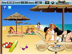 Pamela Hot Kissing game