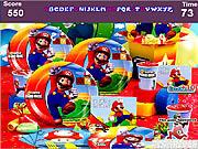 Play Mario jump hidden alphabets Game