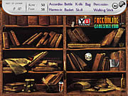 Play Bookshelves find the objects Game