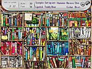 Play Bookshelves find the objects 2 Game