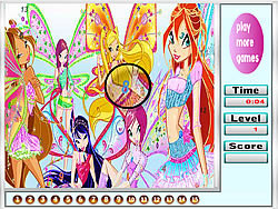 Butterfly Girls Hidden Numbers game