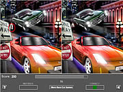 Racing Car Five Difference game