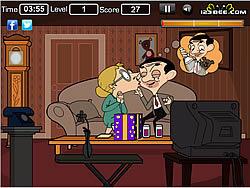 Mr Bean Kissing game