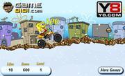 Play Spongebob snow motorbike Game