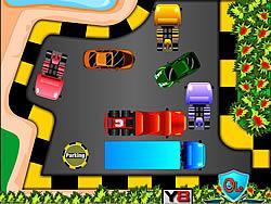 White house car parking game