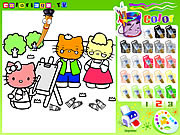Play Hello kitty painting Game