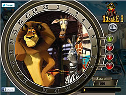 Madagascar 3 - Find the Numbers game