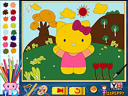 Hello Kitty Online Coloring Page game