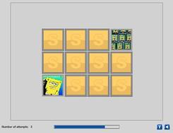SpongeBob and Patrick Memory game