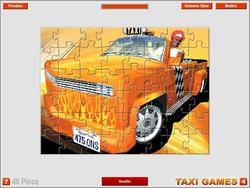 Crazy Taxi Jigsaw game
