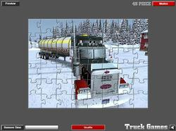 Extreme Truckers Puzzles game