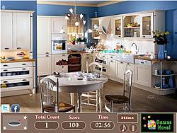 Modern Kitchen Hidden Objects game