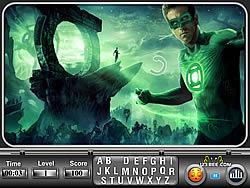 Spielen Sie das Gratis-Spiel  Green Lantern Find the Alphabets