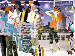 मुफ्त खेल खेलें Fashion Army Skirts
