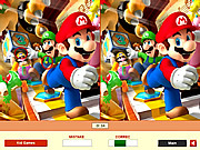 Play Super mario - find the differences Game