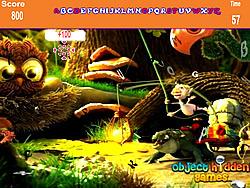 Spielen Sie das Gratis-Spiel  Cartoon Forest Hidden Alphabets Game
