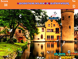 Famous House Hidden Alphabets Game game