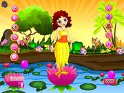 Lotus Girl Dressup game