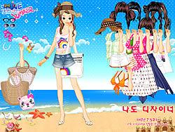 मुफ्त खेल खेलें Beach Dress up