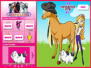 Horseland Dress up game