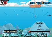 Play Old man fishing styles Game