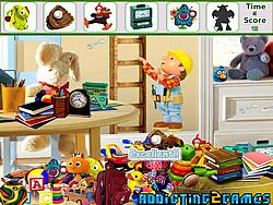 Kids Cartoon Room Hidden Object game