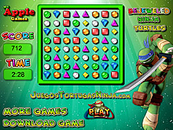 Permainan Bejeweled Ninja Turtles