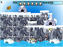 मुफ्त खेल खेलें Penguin Jump