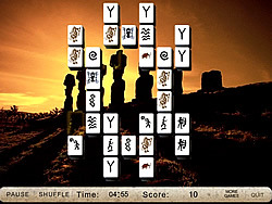 Jogar jogo grátis Mysterious Sculptures Mahjong